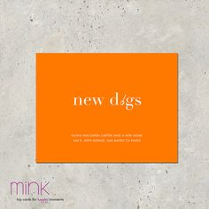 """moving announcement - """"New Digs"""""""