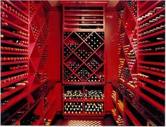 Add a little color to wine and cheese nights with this vivacious cellar.