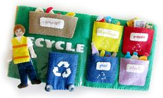 Recycling Quiet Book Set & Free Printables