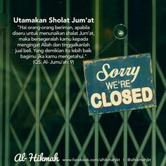 Utamakan sholat Jum'at