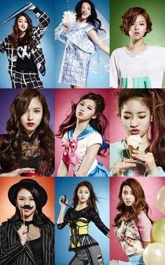 Twice/Jyp Sixteen Pre Debut Nayeon, Kpop Girl Groups, Korean Girl Groups, Kpop Girls, Twice Dahyun, Tzuyu Twice, 2ne1, Btob, Shy Shy Shy