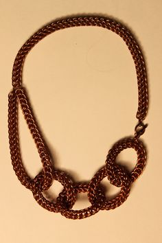 Chainmaille copper MetaMaille Necklace. $180,00, via Etsy.