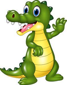 Cute cartoon crocodile vector
