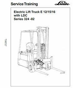 Linde Type Workshop Service ManualOriginal Illustrated Factory Workshop Service Manual for Lin Truck Covers, Power Unit, Hydraulic Pump, Circuit Diagram, Control Unit, E30, Electric Motor, Lifted Trucks, Weights