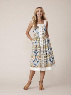 33161a8d2e835 Binny - Hill of Grace - Button Dress in Orchard Print - My Friend Alice