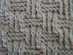 Shingle knitting stitch pattern