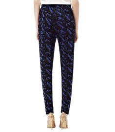 BOWIE  PRINTED JERSEY TROUSERS  BLUE