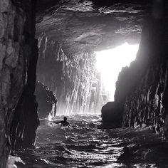 Cave Surfing - Tasmania, Australia (Photo by sean_davey / Instagram)