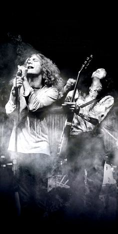 Plant and Page. #LedZeppelin
