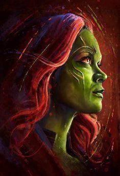 Gamora on Behance Marvel Avengers, Gamora Marvel, Marvel Fan Art, Marvel Comics Art, Marvel Women, Marvel Girls, Marvel Heroes, Marvel Universe, Marvel Cartoons