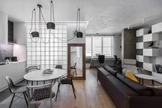 Minimalist apartment for a creative couple in Moscow by Megabudka - CAANdesign | Architecture and home design blog