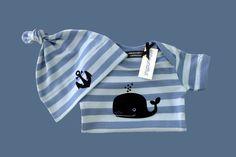 Baby-Body WAL & Mützchen ANKER - HAMBURG von ebbeundflut auf DaWanda.com