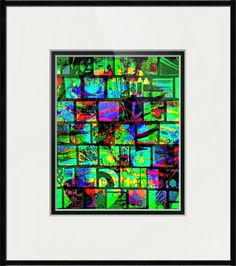 Paper Mosaic Glowing Abstract Mosaic Print A149 Picture Photo Photograph Colorful Vibrant Bright Fun 8 x 10 Green Blue Purple Black Red by Concepts2Canvas on Etsy
