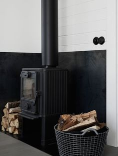 Gravity Home: Scandinavian Home of Pella Hedeby Fireplace Fire wood Wood Stove Hearth, Wood Burner, Wood Stove Surround, Home Fireplace, Fireplace Design, Fireplaces, Minimalist Scandinavian, Scandinavian Home, Pella Hedeby