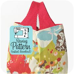 On Sale  Grocery Bag PDF Sewing Pattern by michellepatterns, $5.00  (My all time favorite reusable grocery bag pattern!)