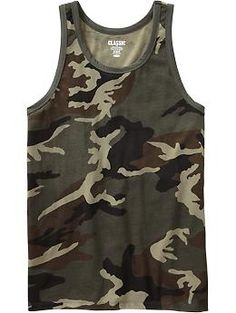 Men's Camo Tanks | Old Navy Army Clothes, Hunting Clothes, Sport Outfits, Cute Outfits, Mens Trends, Dapper Men, Polo T Shirts, Slip, Tank Top Shirt
