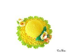 Crochet Pincushion Yellow and Green Pincushion Handmade