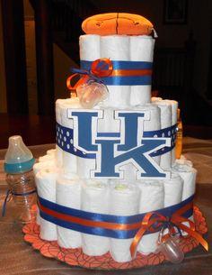 University of Kentucky - UK Wildcats Diaper Cake  $50