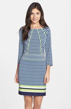 Laundry by Shelli Segal Print Jersey Sheath Dress (Regular & Petite) available at #Nordstrom