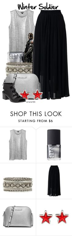 """Winter Soldier"" by amarie104 ❤ liked on Polyvore featuring Monki, NARS Cosmetics, Forever 21, Chicwish, MICHAEL Michael Kors, Givenchy and 275 Central"