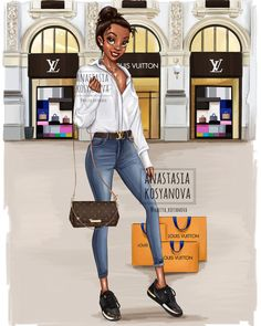 When Disney princesses go shopping by Anastasia Kosyanova Design of . - New Ideas - Trend Disney Stuff 2019 Disney Princess Fashion, Disney Princess Pictures, Disney Princess Drawings, Disney Princess Art, Disney Drawings, Disney Style, Disney Art, Disney Pixar, Drawing Disney