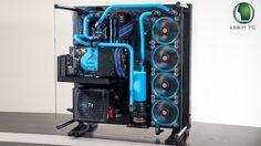 Thermaltake Core P5 Wasserkühlung watercooled PC hellblau