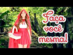 """Como fazer: Fantasia sem """"costura"""" de Chapeuzinho Vermelho para o HALLOWEEN - YouTube"""