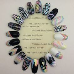 Pastel nail art wheel by melissarose0410 instagram