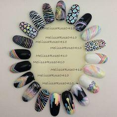 Pastel nail art wheel by melissarose0410 instagram