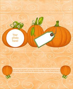 Pumpkins Free Printable Candy Bar Wrapper, ready to personalize with your photo and message.