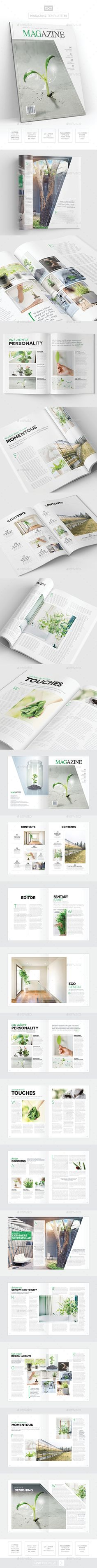 Magazine Template - InDesign 24 Page Layout V14