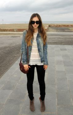 denim jacket, j brand jeans, isabel marant dicker boots, cartier vintage bag, crochet top