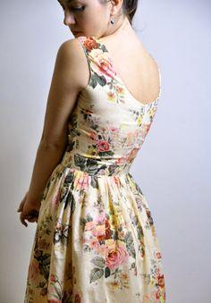Floral Day dress Cotton voile Made to Order por atelierMANIKA
