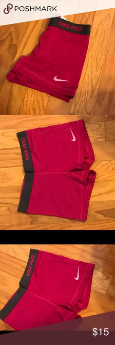 Nike Pro Pink Shorts Nike Pro Shorts. NEVER WORN! Too short for my liking! In perfect condition Nike Shorts