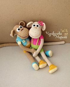 Ravelry: Funny monkey pattern by Chuchkalova Marina Diy Doll Pattern, Doll Patterns, Amigurumi Toys, Softies, Crochet Animals, Crochet Toys, Monkey 2, Monkey Pattern, Crochet Hook Sizes