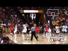 The ASU Men's Basketball team earned a half point in the State Farm Territorial Cup Series by by defeating the U of A on 3/4, by a score of 87-80