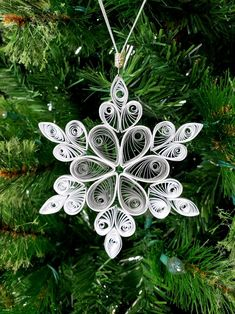 5 inch Quilled Snowflakes Christmas Decorations - 5 inch Quilling Snowflakes Christmas Ornament image 7 You are in the right place about decor logo H - Diy Christmas Fireplace, Diy Christmas Snowflakes, Snowflake Craft, Quilling Christmas, Snowflake Decorations, Christmas Diy, Christmas Decorations, Paper Christmas Ornaments, Angel Ornaments