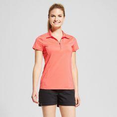 Women's Zip Up Golf Polo T-Shirt -