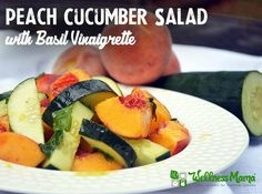 Peach Cucumber Salad Recipe with Basil Vinaigrette