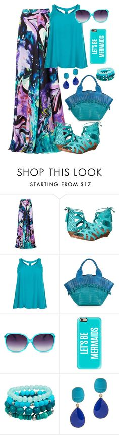 """""""Let's be mermaids"""" by holgal ❤ liked on Polyvore featuring Matthew Williamson, Minnetonka, New Look, Nancy Gonzalez, Casetify and Kenneth Jay Lane"""
