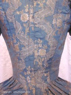 "Rare french brocaded silk ""Pierrot""/bodice 1780'   Villa Rosemaine"