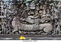 Image from http://l7.alamy.com/zooms/af53be3703364bf694eeb05f6ebd8daa/beautiful-ancient-khmer-stone-lintel-carving-takeo-province-cambodia-c5k0t1.jpg.