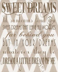 Dream a Little Dream of Me  Printable Poster by BonTempsBeignet, $10.00