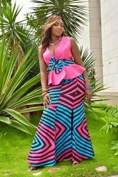 Latest African Clothing For Women – Modern Ankara Styles 2020 - photo African Blouses, African Lace Dresses, African Dresses For Women, African Attire, African Wear, African Style, African Women, African Fashion Ankara, Ghanaian Fashion