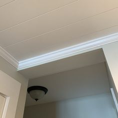 How to Install Crown Molding Crown Molding In Bedroom, Cut Crown Molding, Moulding, Molding Ceiling, Shiplap Ceiling, Drop Ceiling Grid, Crown Molding Installation, Installing Shiplap, Shiplap Bathroom