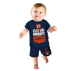 NCAA Boys Short Pajama Set  http://allstarsportsfan.com/product/ncaa-boys-short-pajama-set/?attribute_pa_teamname=auburn-tigers&attribute_pa_size=0-3-months  Soft 95% cotton 5% spandex fabric Available in Infant and Toddler sizes Machine washable and Dryable