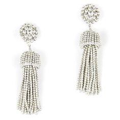 silver tassel earrings | tuckernuck.