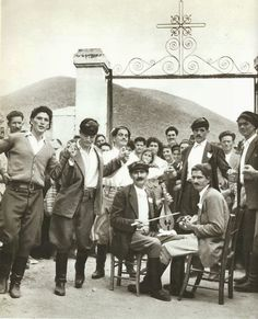 A festival in the village of Agios Giorgos.From French photographer Claude Dervenn is a collection of beautiful black and white photographs of Crete in the Greek Men, Old Greek, Kai, Greece History, Journey To The Past, Greek House, Greek Life, Greece Photography, Heraklion