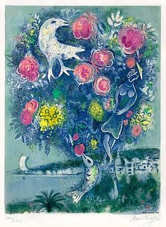 Masterworks Fine Art Gallery - La Baie des Anges au Bouquet de Roses (Angel Bay with a Bouquet of Roses), from Nice and The Côte d'Azur (1967)