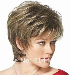 Women Wigs Short Curly Brown Mixed Color Lady Hair Wigs for sale online Short Hair With Layers, Short Hair Cuts, Curly Short, Layered Short Hair, Curly Pixie, Pixie Cuts, Short Pixie, Curly Hair Styles, Natural Hair Styles